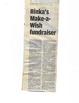 Rinka's make a wish fundraiser